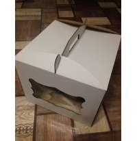 Коробка для торта 300х300х250 с окошком