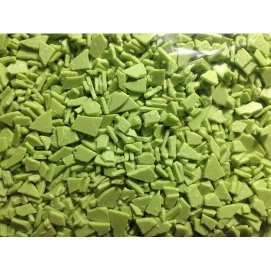 Осколки шоколадной глазури зелёные
