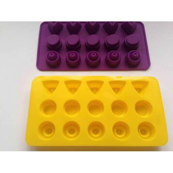 Форма силиконовая для конфет 15шт на планшете