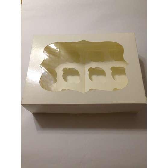 Коробка для 12 кексов с окошком 34х25х9см