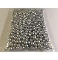 Шарики перламутр серебро