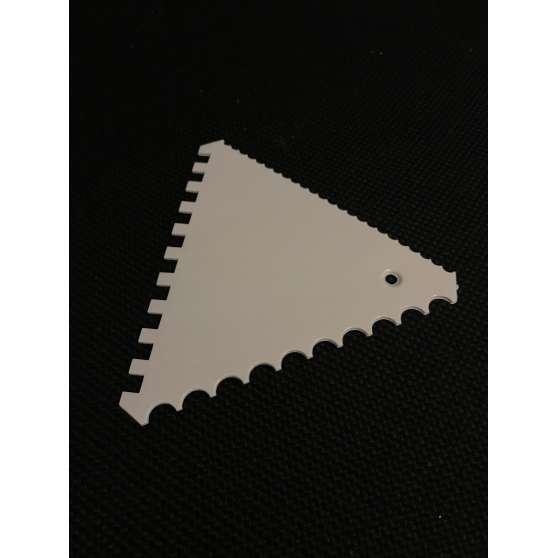 Скребок трёхсторонний рубчатый