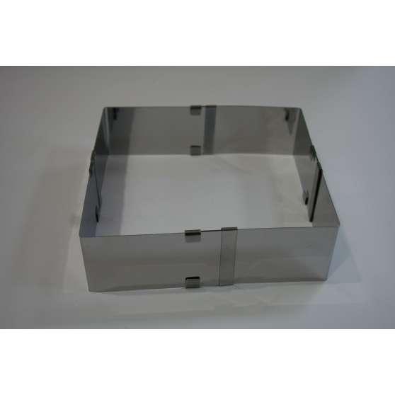Форма для выпечки раздвижная прямоугольная 21х27-33х50*10см