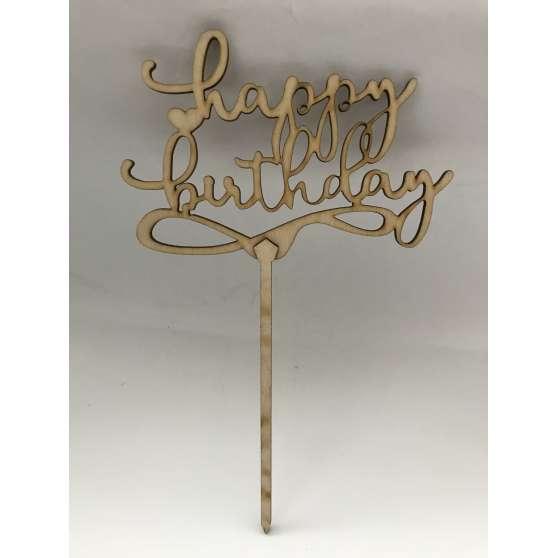 "Топпер на торт ""Happy birthday"", дерево"