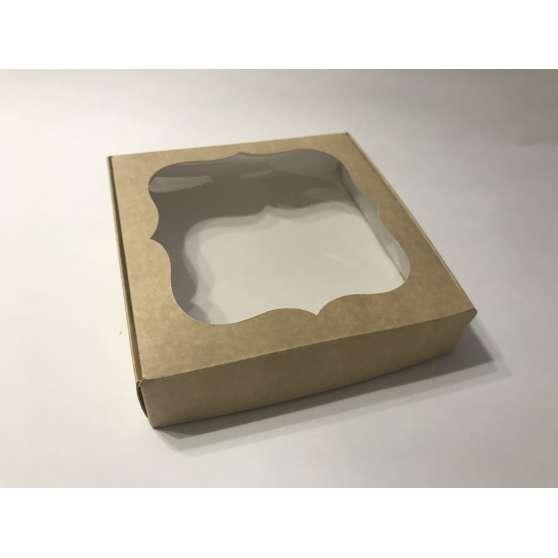 Коробка для пряника 15х15х3 с окном