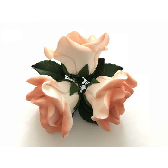 """Авторские цветы """"Букет роз 3шт"""""""