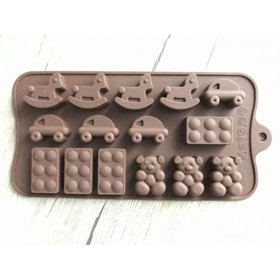 Форма силиконовая для конфет 15шт на планшете Ассорти 7