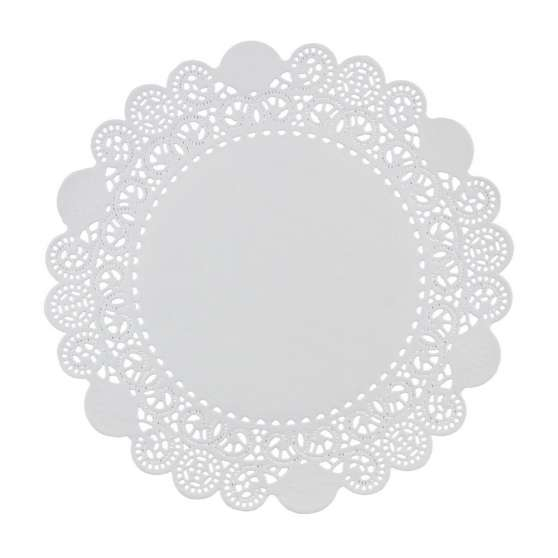 Салфетка под торт круглая Д-36 белая