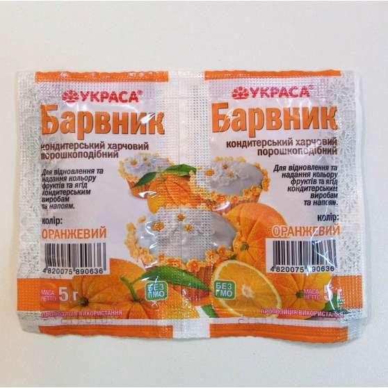 краситель Украса 5г оранжевый