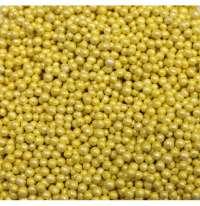 Шарики сахарные «Желтый» перламутр 5мм, 25г