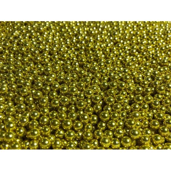 Шарики сахарные золото 2мм, 20гр