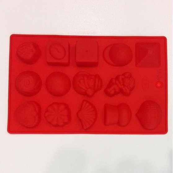 Форма силиконовая для конфет 15шт на планшете Ассорти 3