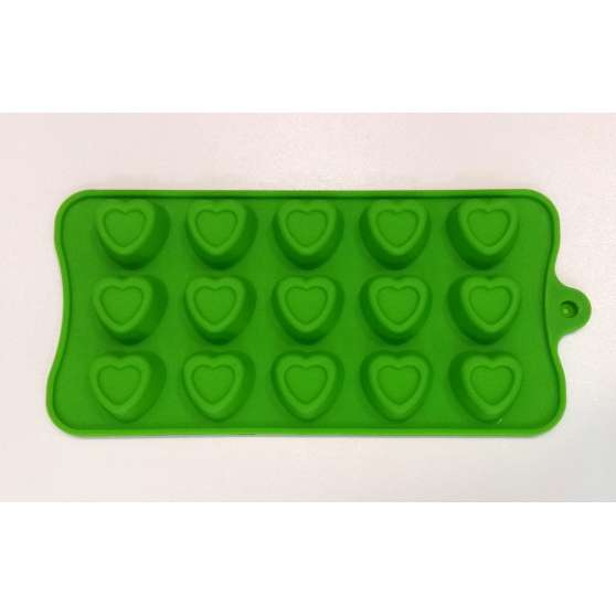Форма силиконовая для конфет 15 шт на планшете Сердце 2