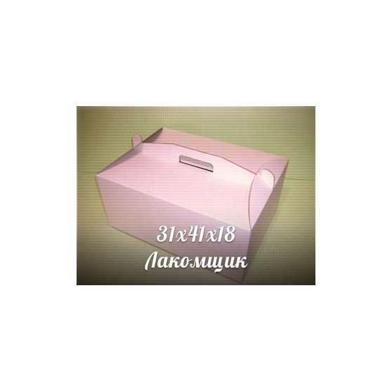 Коробка для торта самосборная 31х41х18