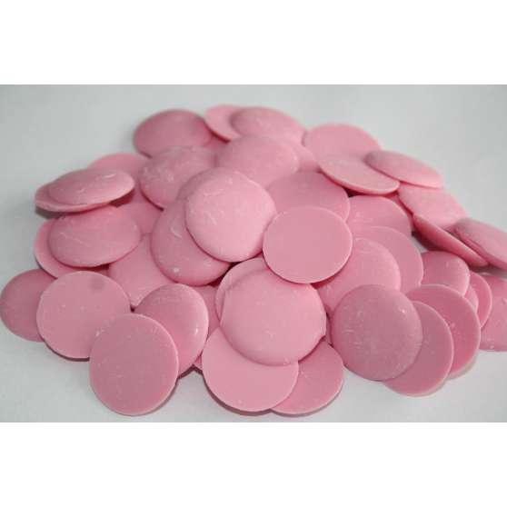 Глазурь розовая в монетках 200гр.