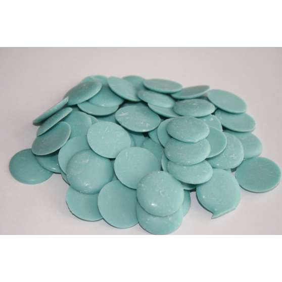 Глазурь голубая в монетках 200гр.