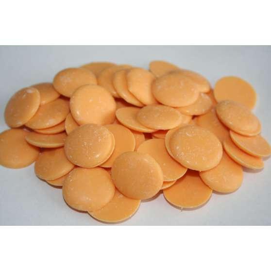 Глазурь оранжевая в монетках 200гр.